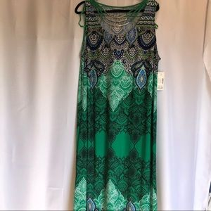 Catherines green sleeveless maxi dress